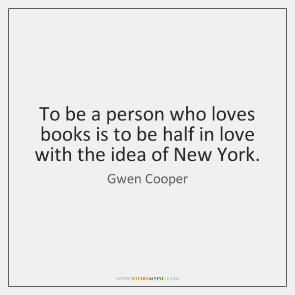 To be a person who loves books is to be half in ...