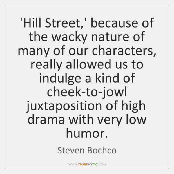'Hill Street,' because of the wacky nature of many of our ...