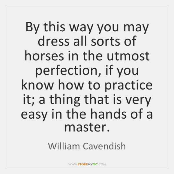 By this way you may dress all sorts of horses in the ...