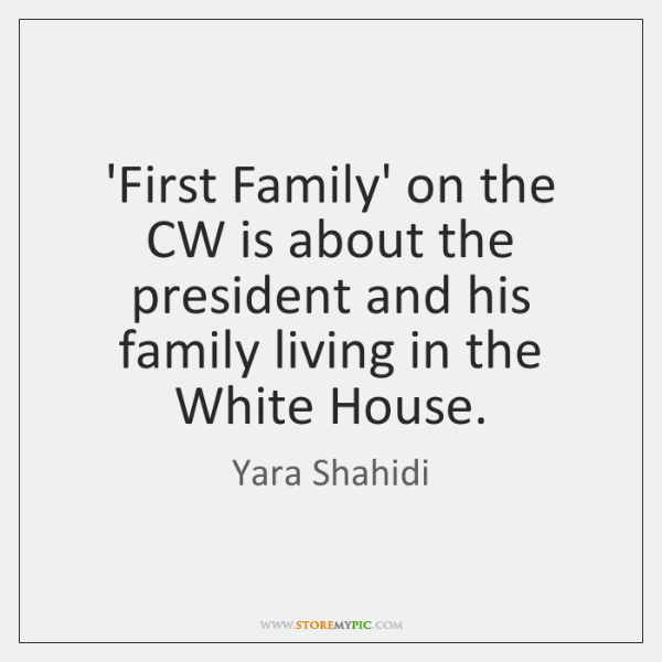 'First Family' on the CW is about the president and his family ...