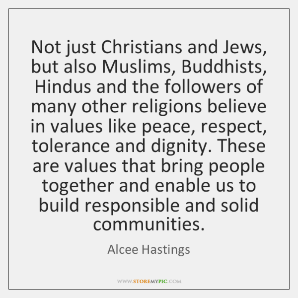 Not just Christians and Jews, but also Muslims, Buddhists, Hindus and the ...