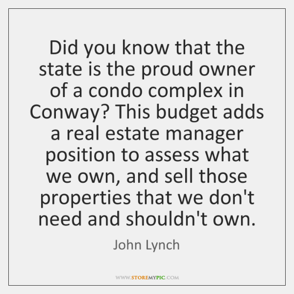 Did you know that the state is the proud owner of a ...