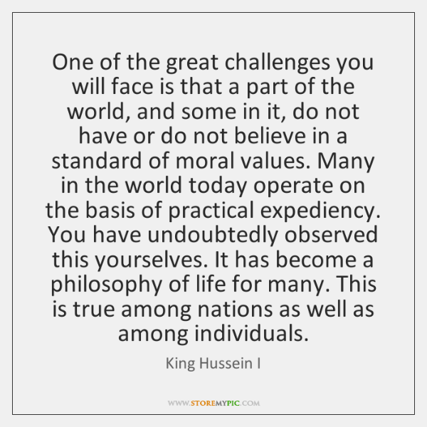 One of the great challenges you will face is that a part ...