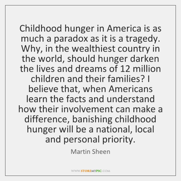 Childhood hunger in America is as much a paradox as it is ...
