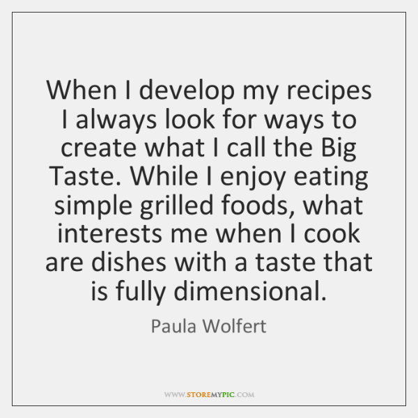 When I develop my recipes I always look for ways to create ...