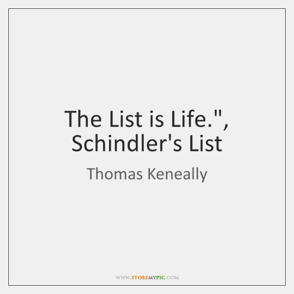 The List is Life.
