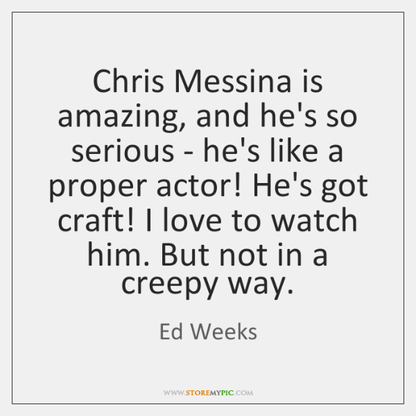 Chris Messina is amazing, and he's so serious - he's like a ...