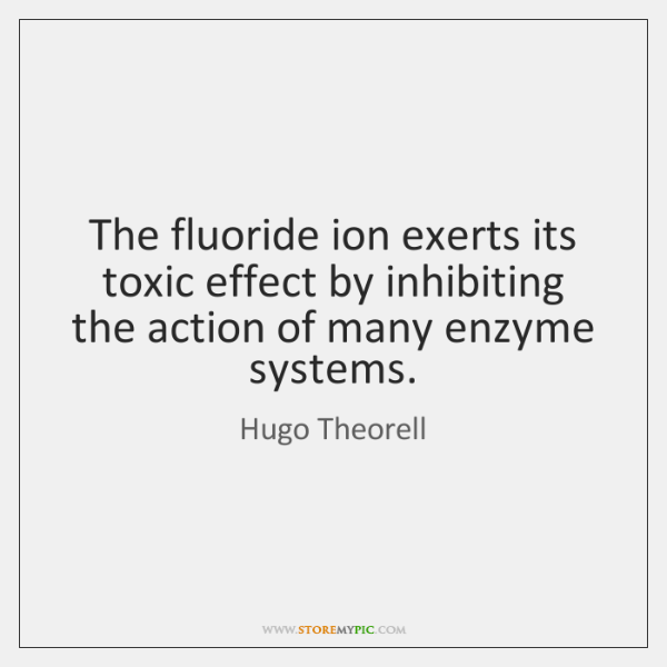 The fluoride ion exerts its toxic effect by inhibiting the action of ...