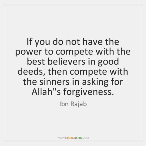 If you do not have the power to compete with the best ...