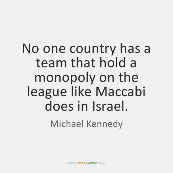 No one country has a team that hold a monopoly on the ...