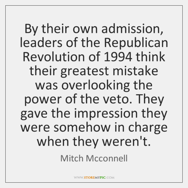 By their own admission, leaders of the Republican Revolution of 1994 think their ...