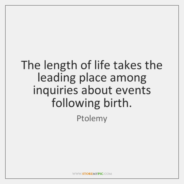 The length of life takes the leading place among inquiries about events ...
