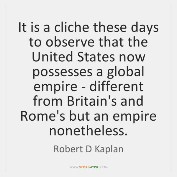 It is a cliche these days to observe that the United States ...