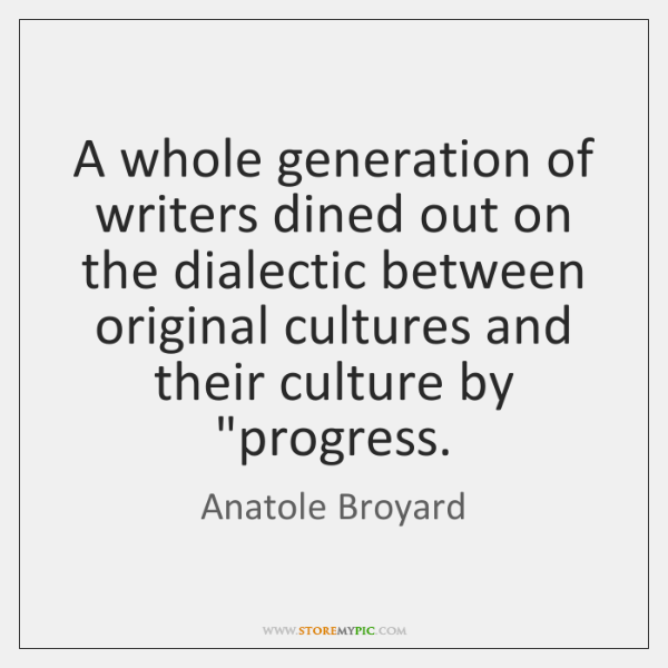 A whole generation of writers dined out on the dialectic between original ...