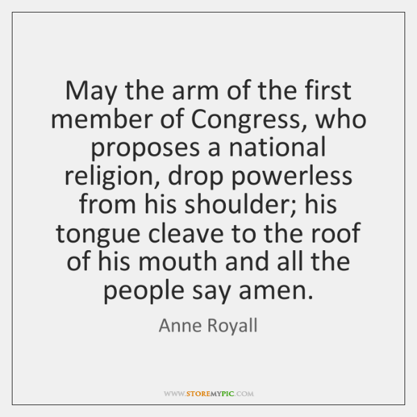 May the arm of the first member of Congress, who proposes a ...