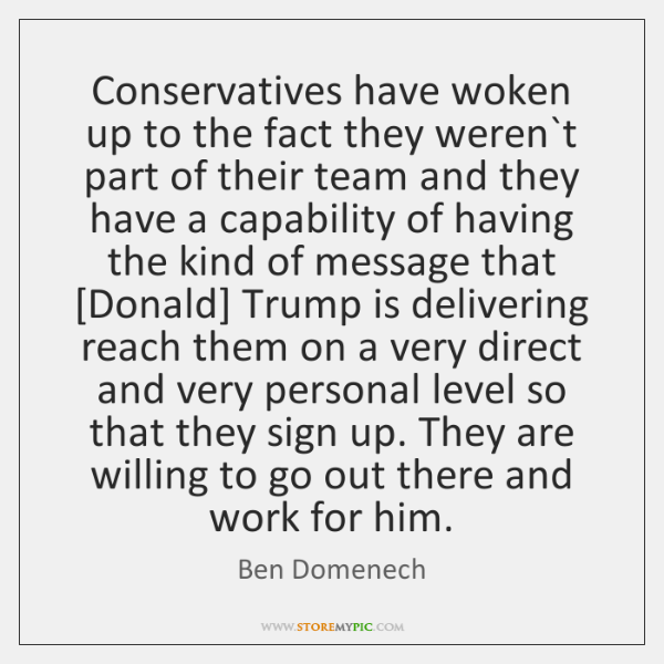 Conservatives have woken up to the fact they weren`t part of ...