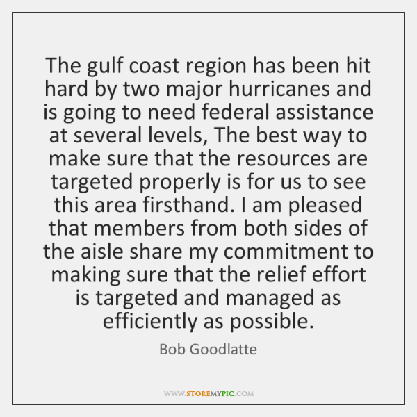 The gulf coast region has been hit hard by two major hurricanes ...