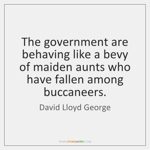 The government are behaving like a bevy of maiden aunts who have ...