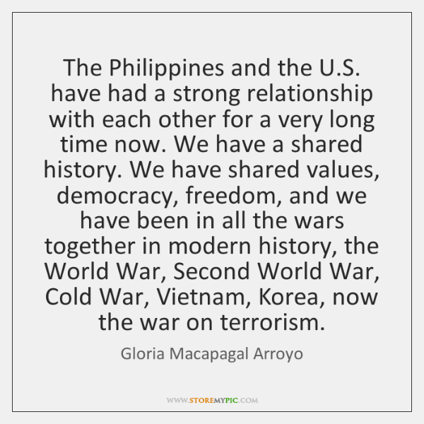 The Philippines and the U.S. have had a strong relationship with ...