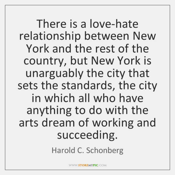 There is a love-hate relationship between New York and the rest of ...