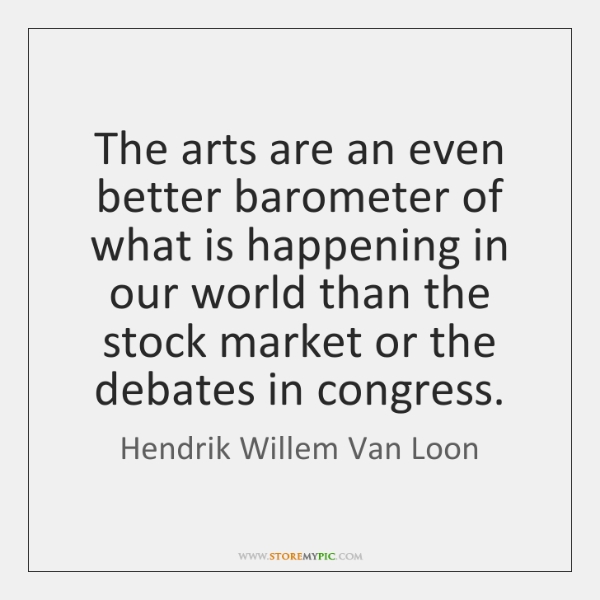 The arts are an even better barometer of what is happening in ...