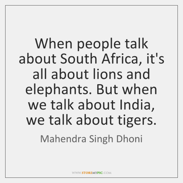 When people talk about South Africa, it's all about lions and elephants. ...