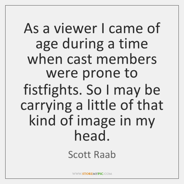 As a viewer I came of age during a time when cast ...