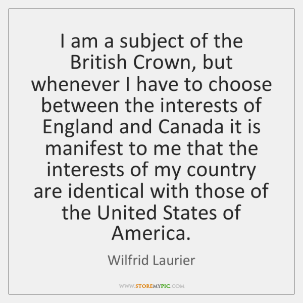 I am a subject of the British Crown, but whenever I have ...