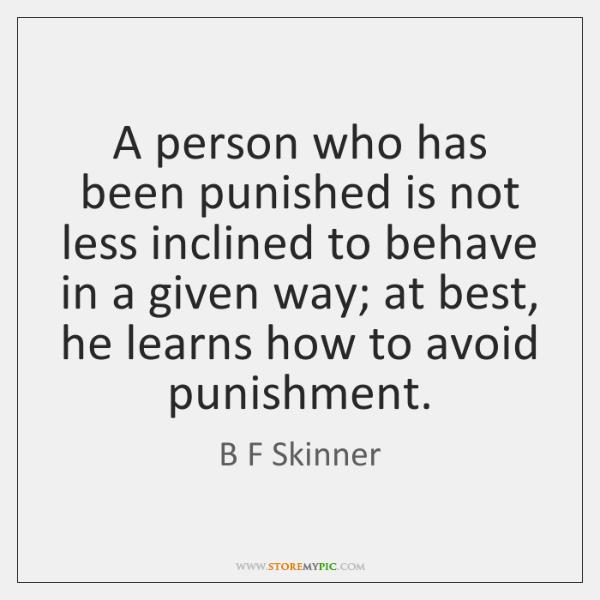 skinner punishment