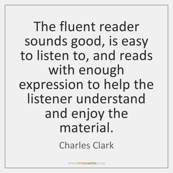 The fluent reader sounds good, is easy to listen to, and reads ...