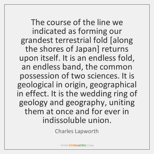 The course of the line we indicated as forming our grandest terrestrial ...