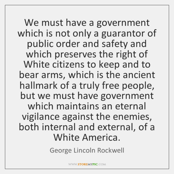 We must have a government which is not only a guarantor of ...