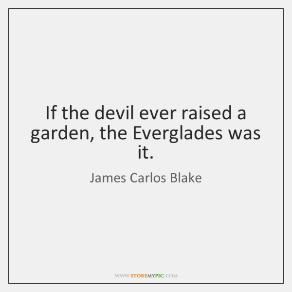 If the devil ever raised a garden, the Everglades was it.