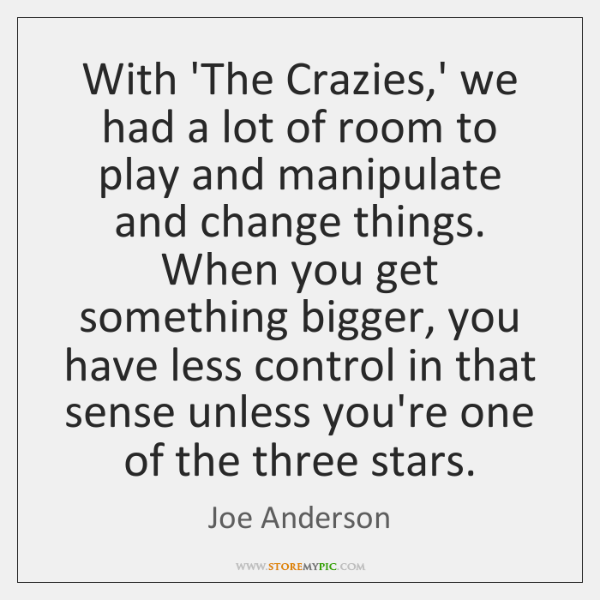 With 'The Crazies,' we had a lot of room to play ...