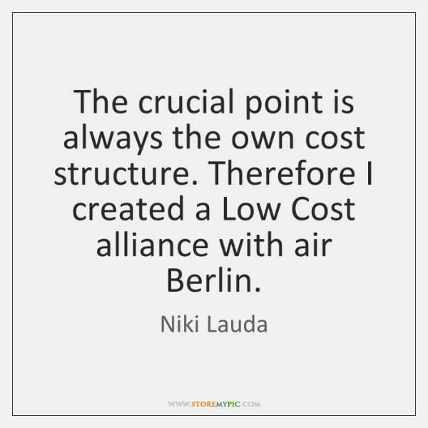 The crucial point is always the own cost structure. Therefore I created ...