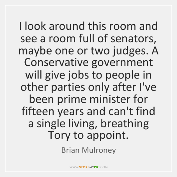 I look around this room and see a room full of senators, ...