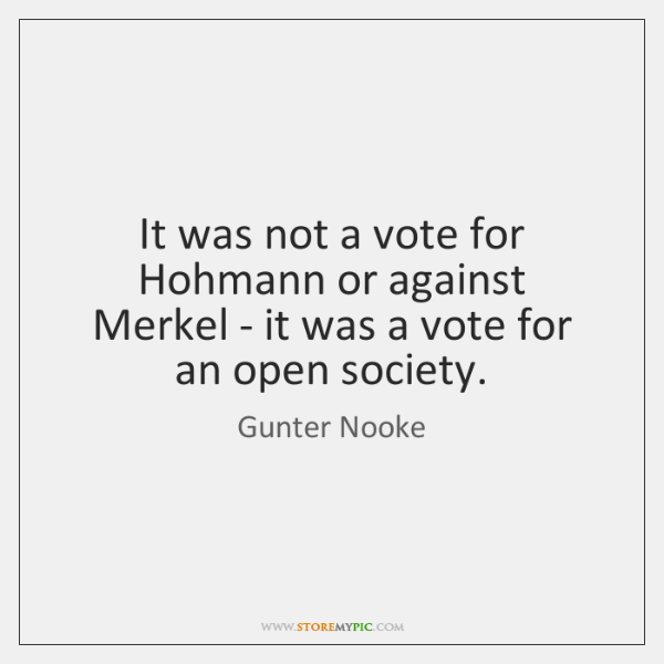It was not a vote for Hohmann or against Merkel - it ...