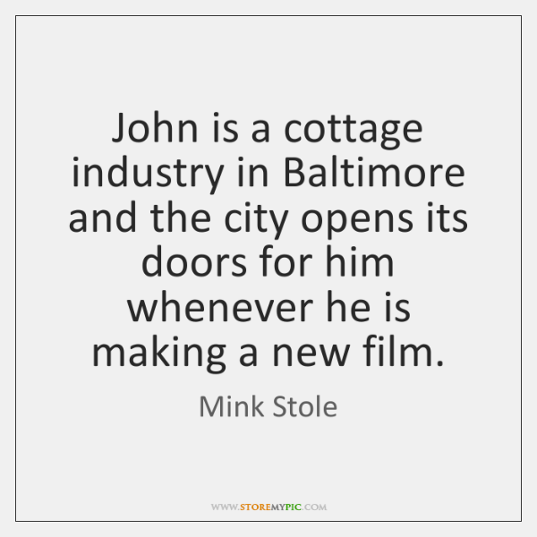 John is a cottage industry in Baltimore and the city opens its ...