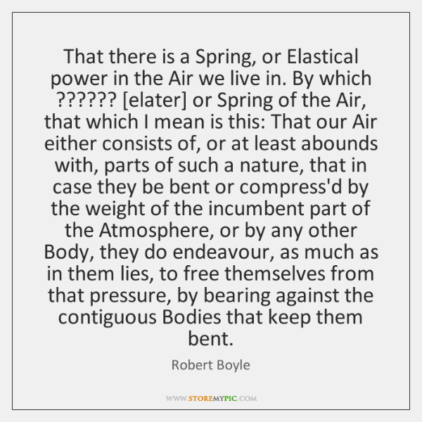 That there is a Spring, or Elastical power in the Air we ...