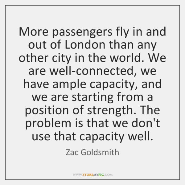 More passengers fly in and out of London than any other city ...