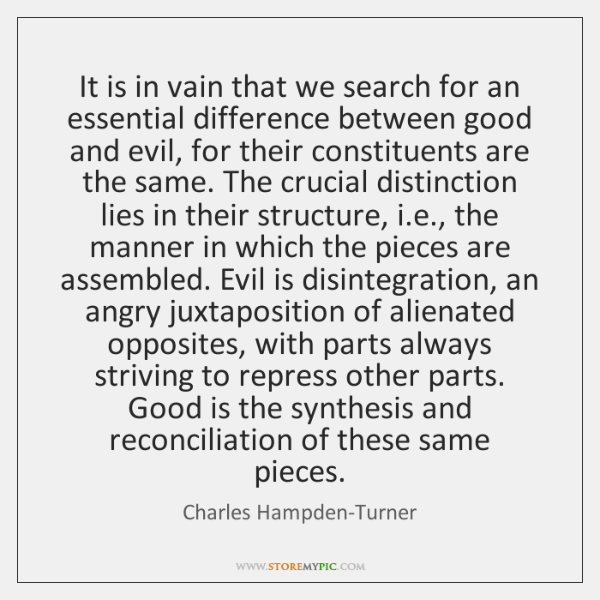 It is in vain that we search for an essential difference between ...