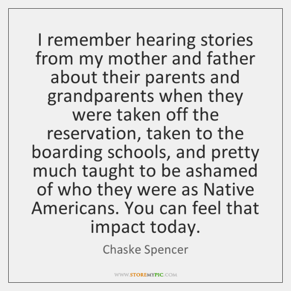 I remember hearing stories from my mother and father about their parents ...