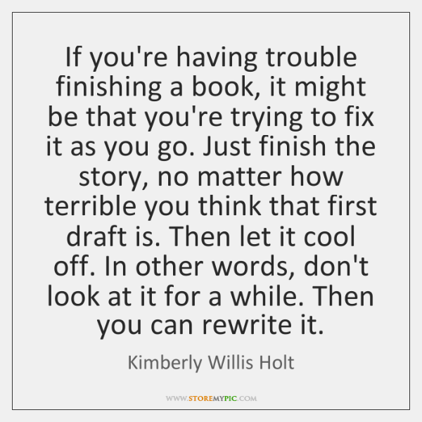 If you're having trouble finishing a book, it might be that you're ...