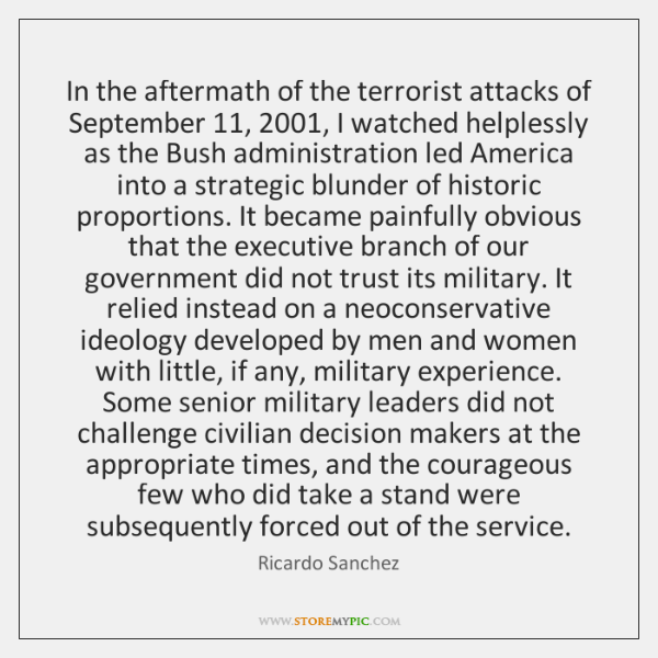 In the aftermath of the terrorist attacks of September 11, 2001, I watched helplessly ...