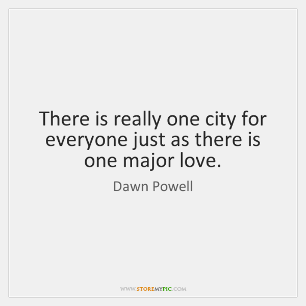 There is really one city for everyone just as there is one ...