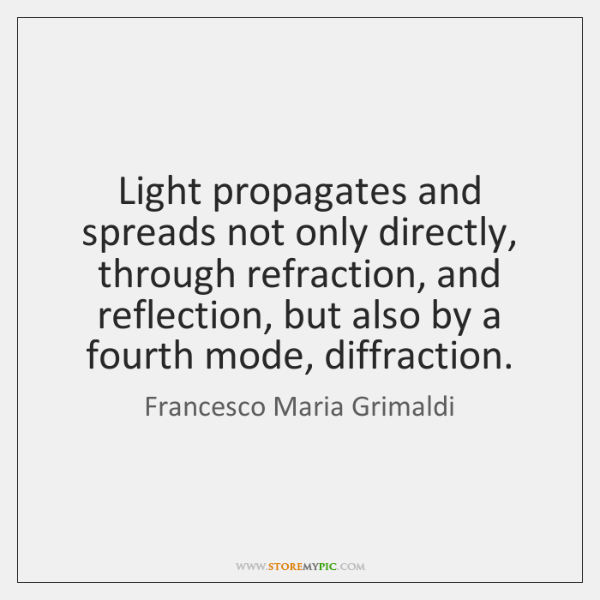 Light propagates and spreads not only directly, through refraction, and reflection, but ...