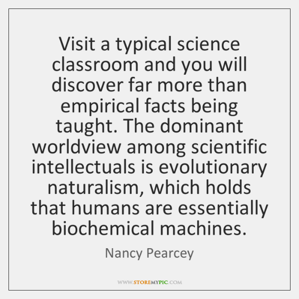 Visit a typical science classroom and you will discover far more than ...