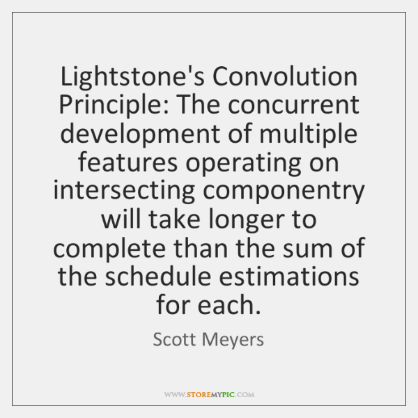 Lightstone's Convolution Principle: The concurrent development of multiple features operating on int