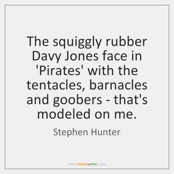 The squiggly rubber Davy Jones face in 'Pirates' with the tentacles, barnacles ...