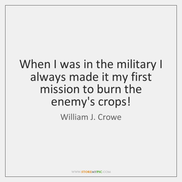 When I was in the military I always made it my first ...